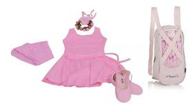 Roupa Bale Kit Completo Infantil Baby Class Bolsa