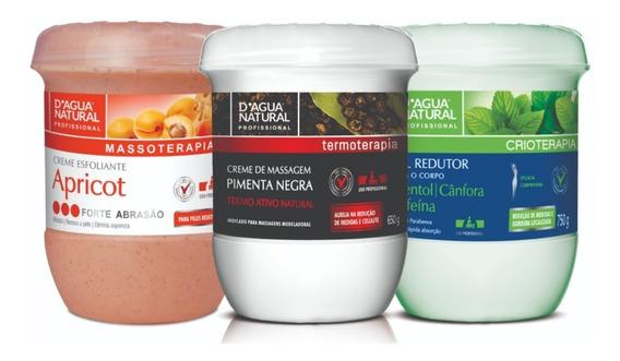 Kit Dagua Natural Pimenta Negra+gel Redutor+esfoliante Forte