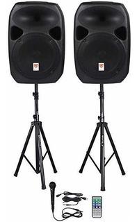 Rockville Rpg122k Dual 12 Potenciados Parlantes Bluetooth+ ®