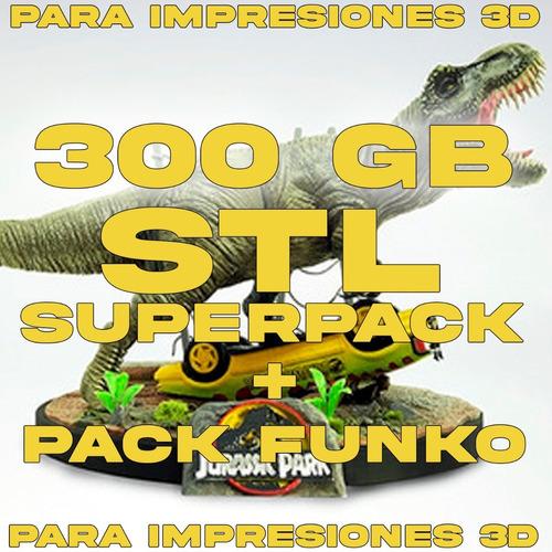 Imagen 1 de 5 de Mega Pack Stl +300gb + Stl Pack Funko Completo