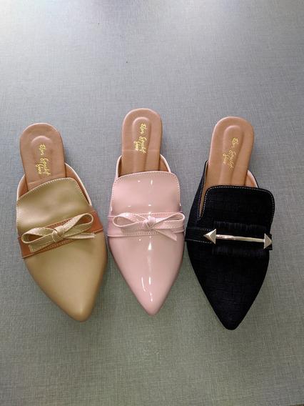 3 Pares De Sapatos Mule Feminino