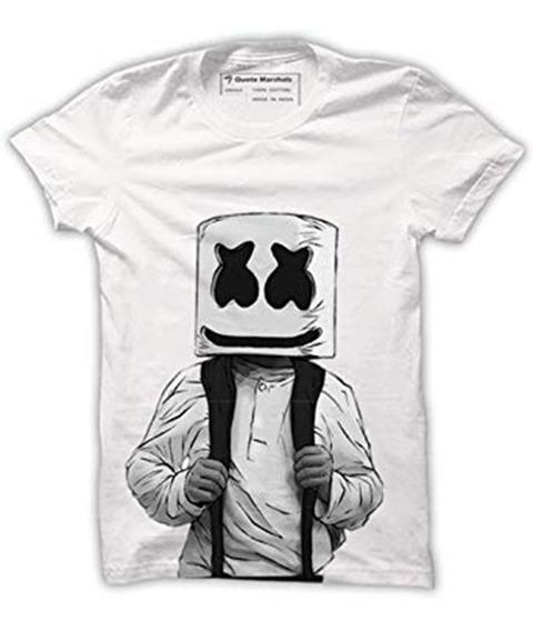 Envio Gratis Playera Marshmello Dj Face Logo Cara High Schoo