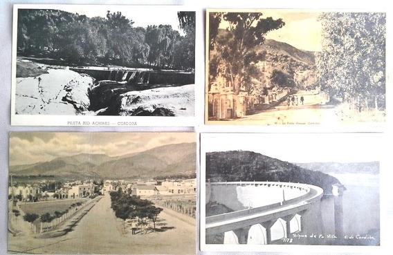 Set De 4 Postales Años 30 - Córdoba - Foto Tarjeta Postal