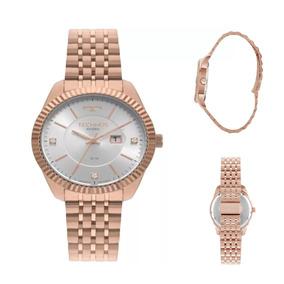 Relógio Feminino Technos Riviera 2015ccw/4k 37mm Aço Inox
