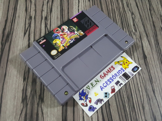 Mighty Morphin Power Rangers P/ Super Nintendo + Garantia!