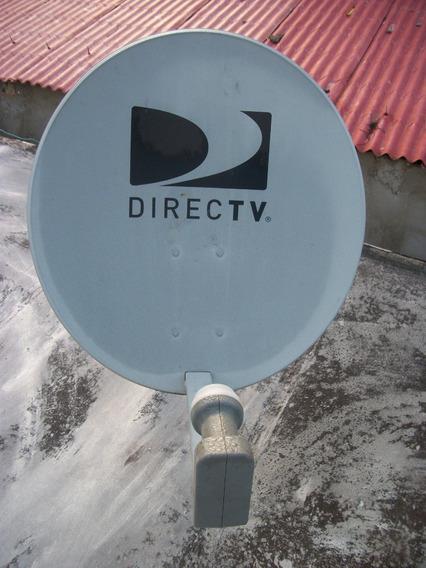 Antena Parabólica Satelital Directv Con Lnb Dual.