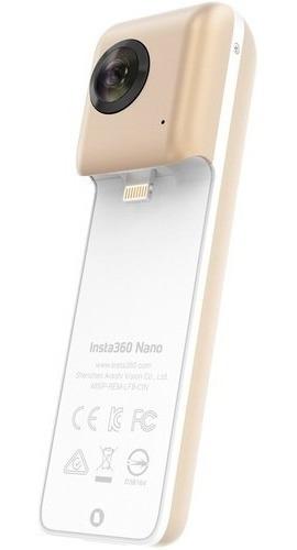 Câmera Panorâmica Insta 360° Vr Nano Gold iPhone 7 Promo