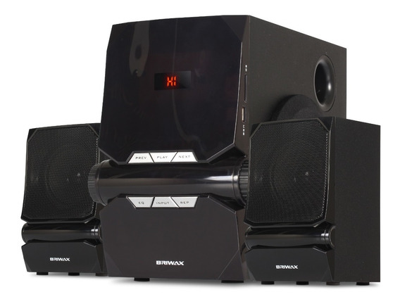 Caixa Som Subwoofer 2.1 Bluetooth 50w Home Theater Tv Pc Aux