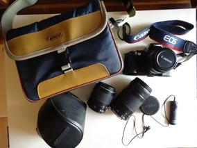 Canon Máquina Fotográfica Analógica Eos 500 + 8 Acessórios
