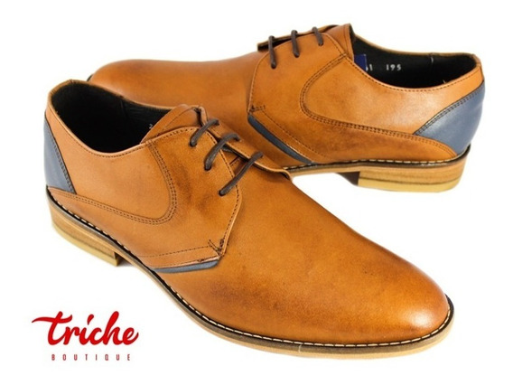 Calzado Zapato Caballero Café Oc 51031m3 Vestir Suela Cuero