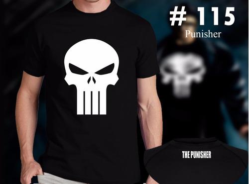 Punisher : Remeras Estampadas De Comics # 115