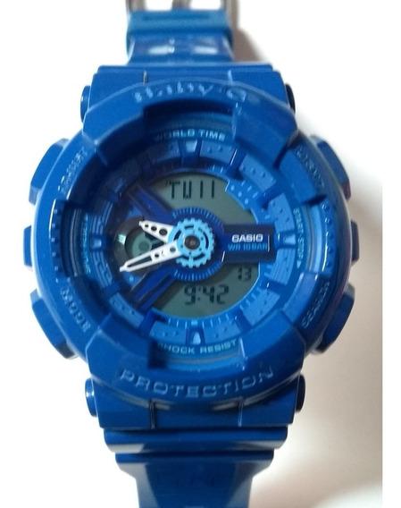 Relógio Casio G Shock Baby Azul À Prova D