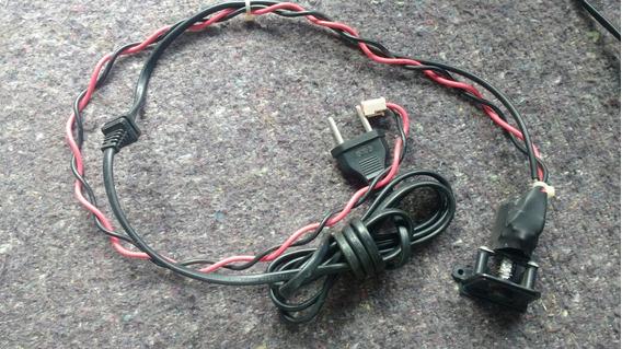 Chave Liga Desliga + Cabo De Força Tv Toshiba Lc4246