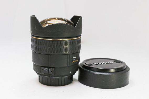 Lente Sigma 14mm F/2.8 Para Canon Grande Angular