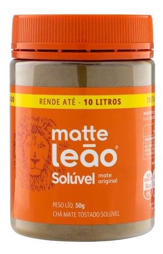 Leão Chá Matte Solúvel Pote 50g
