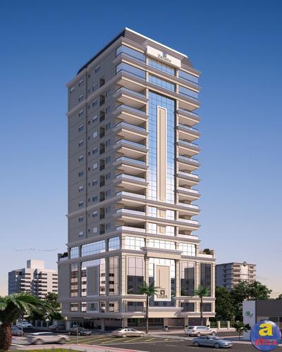 Imagem 1 de 10 de Apartamento 3 Suítes, 2 Vagas De Garagem Na Meia Praia Em Itapema/sc - Imobiliária África - Ap00423 - 69715214