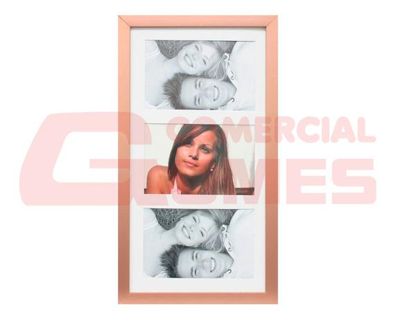 Porta Retrato Frame Insta Cobre Para 03 Fotos 10x15 Cm 68885