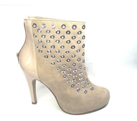 Botín Bagas Shoes Color Nude Tendencia Invierno