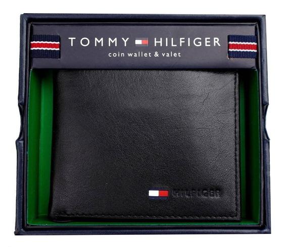 Billetera Tommy Hilfiger De Cuero Original Con Sencillera