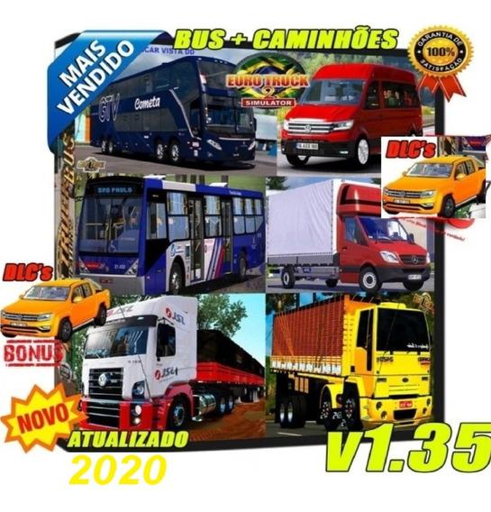 Euro Truck 2 Simulator + Mods Brasil Ônibus Caminhão + Dlcs
