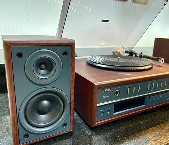 Toca Discos Teac Vintage Lp P1000 Cd Rádio Bluetooth