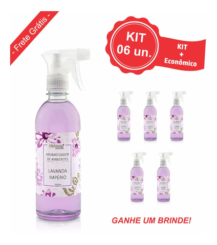 Kit Aromatizador Ambientes 500 Ml (6un.)