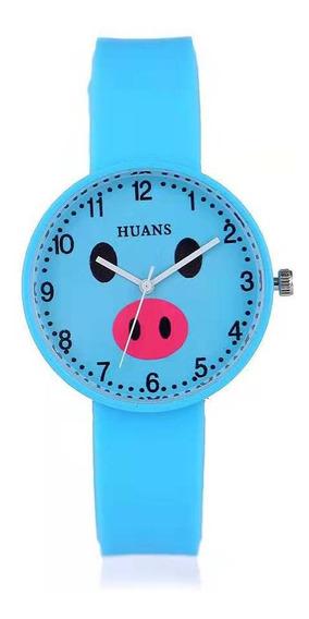 Reloj De Cerdito Dama Moda En Colores Puerquito