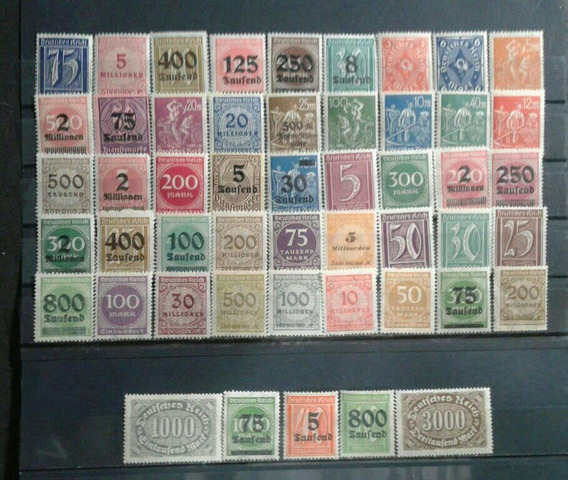 Alemania 50 Estampillas Dif Mint 1920-1922 Inflación Lot 1