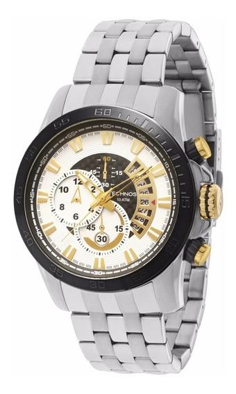 Relógio Technos Carbon Masculino Os1aas/1b Prata Oferta