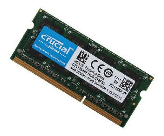 Memória 4gb Ddr3l 1600mhz Mac Mini 2.5ghz Core I5 Late 2012