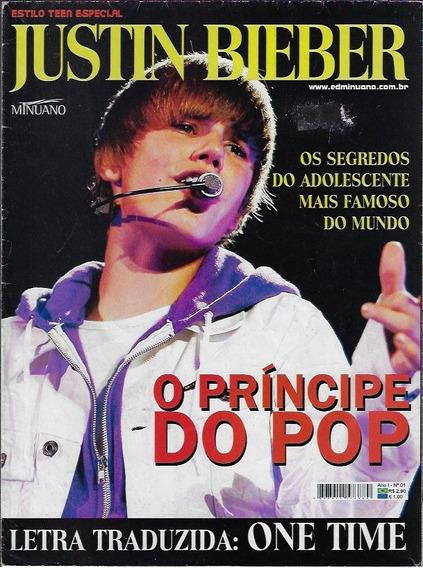 2011 Revista Pôster Justin Bieber One Time Nº 1 Ed. Minuano