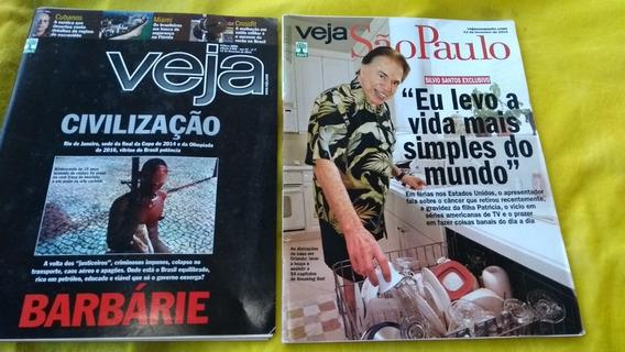 Silvio Santos Na Revista Veja São Paulo Edição 2360 Fev 2014