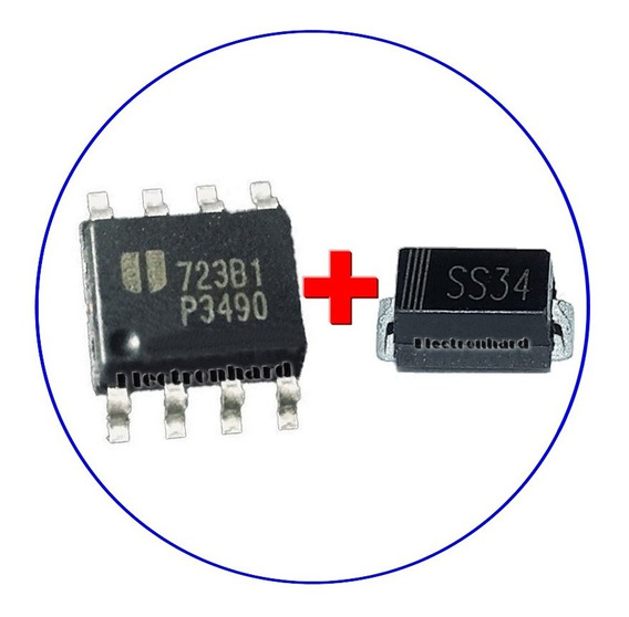P3490 + Ss34 Eup3490 Eup 3490 Ss34 Ss34b Stepdown + Schottky