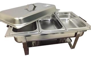 Bufetera Chafer 3 Insertos Tercios De Acero Inoxidable Chef