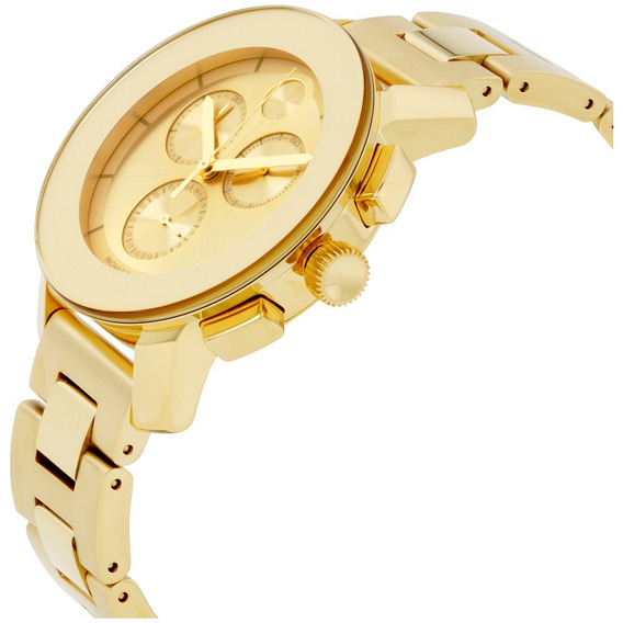 Relogio Movado Bold Chronograph Gold Sunray Dial Unisex