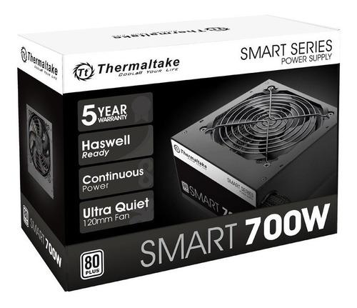 Fuente Pc Thermaltake Smart White 700 Watts 80 Plus Gamer