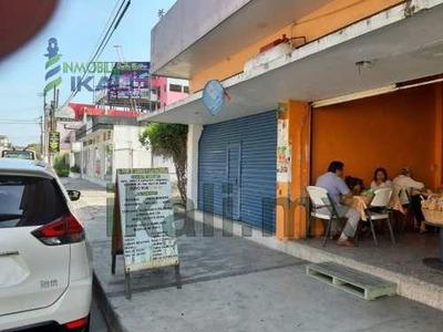 Rento Local Comercial 42 M² Col. Cazones Poza Rica Veracruz. El Local Comercial Con Un Frente 4 M² Y Profundidad De 12 M². Cuenta Con Un Medio Baño, Una Cochera Descubierta Para Un Automóvil, Un Pozo