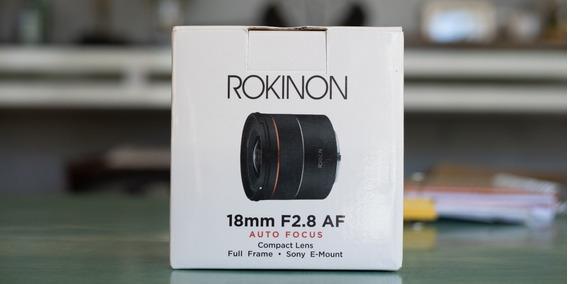Lente Rokinon 18mm 2.8