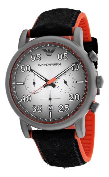 Reloj Armani Para Hombre Seiko Esfera Plateada - Ar11174