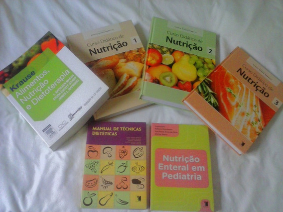 6 Livros De Nutrição Novos.