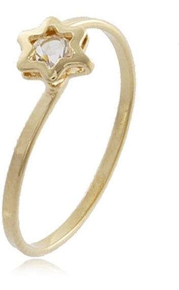 Anel Falange Estrela Folheado Ouro 18k - Imperdível