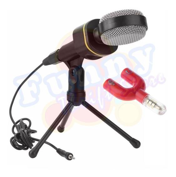 Microfone Condensador Multimídia Tomate Mt-1021 Adaptador P3 (p2 Combo)