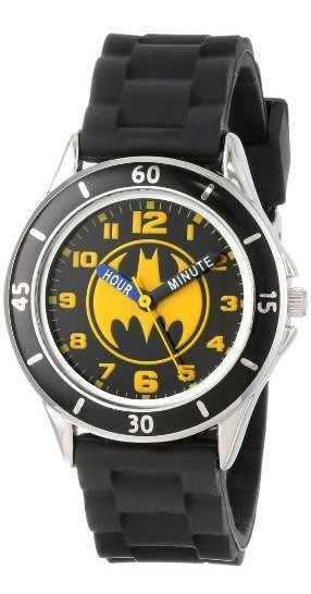 Reloj Analógico De Batman Para Niños Con Carcasa Plateada, B