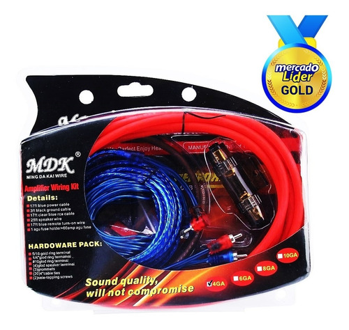 Kit Profesional Cables Audio Hd Para Amplificador Subwoofer