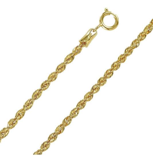 Cordão Baiano Ouro 18k Feminina 45cm