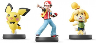 Amiibo Pokemon Trainer Pichu Isabelle Super Smash Bros
