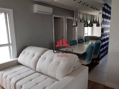Apartamento Com 2 Dormitórios E Acabamento Alto Padrão À Venda, 56 M² Por R$ 350.000 - Ap0869