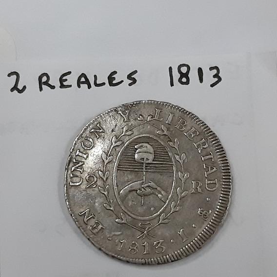 Moneda De 2 Reales Año 1813 Buen Estado!
