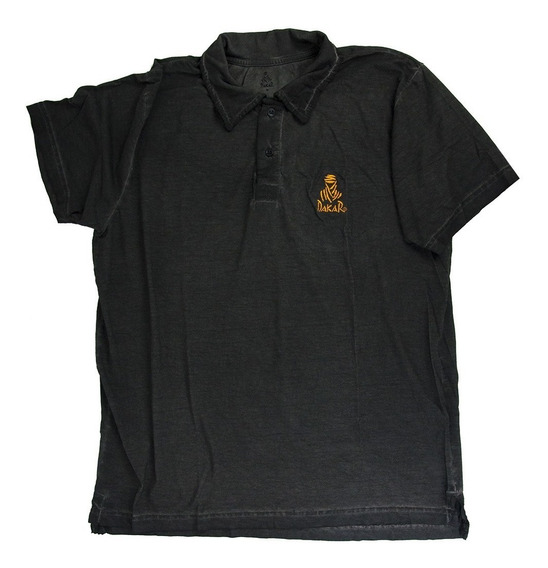 Camisa Gola Polo Dakar Beduino 78 - Preta