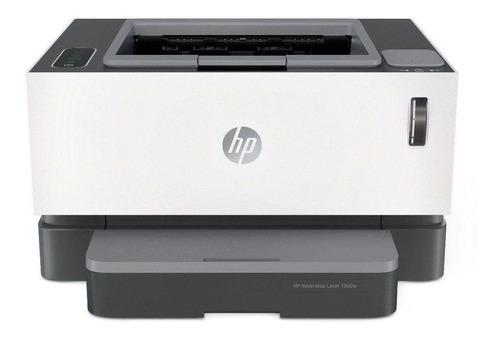 Imagen 1 de 3 de Impresora simple función HP Neverstop 1000w con wifi blanca y gris 110V/240V